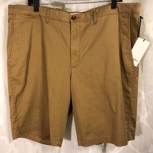 "Croft & Barrow 10.5"" Linden Shorts Pockets 40 Tan"